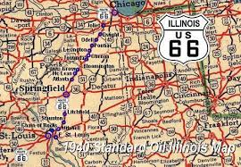 map us highway route 66 illinois route 66