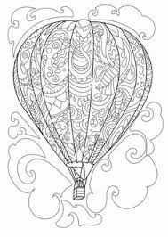 balloon coloring pages air balloon coloring picture preschool transportation
