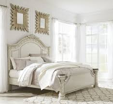 North Shore Canopy King Bed cassimore north shore pearl silver cal king panel bed from ashley