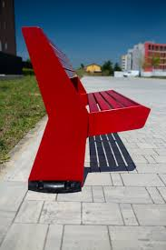 contemporary style metal bench with back ur 12 13 by arco work