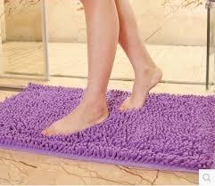 Microfiber Bathroom Rugs Big Microfiber Bath Mats Soft Comfortable Chenille Material