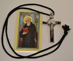 st benedict crucifix large st benedict crucifix necklace with holy cardf s
