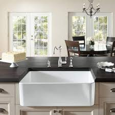 Large White Fireclay Apron Front Inch Farmhouse Kitchen Sink - Fireclay apron front kitchen sink