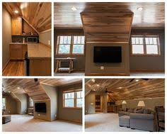 Room Above Garage by Hickory Ceiling Bonus Room Kid Room Above Garage In A Cabin Or