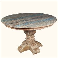 Distressed Pedestal Dining Table Image For Distressed Wood Dining Table Table