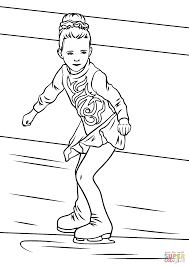 ice skater coloring free printable coloring pages