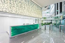 Front Reception Desk A Reception Desk Made By Stacking Layers Of Glass Http Www
