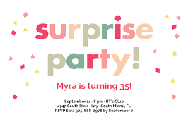 surprise party invitations oubly com
