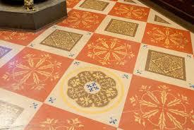 big painted floor designs