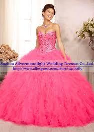 quinceanera pink dresses aliexpress buy beaded hot pink quinceanera