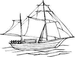 Dessins de bateaux à colorier