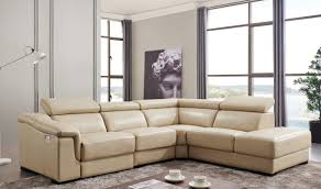 Sectional Sofas With Recliner by 760 Leather Sectional Sofa W Electric Recliner In Beige Free
