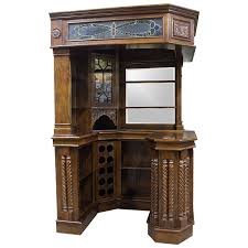 Antique Corner Desk by Solid Mahogany Corner Home Bar Furniture With Tiffany Glass Canopy