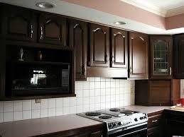 Microwave Kitchen Cabinets Kitchen Room Design Great Dark Brown Carved Wooden Frame Door