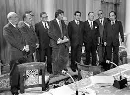 Felipe, Carrillo, Suárez, Roca, Tierno Galván, Fraga, Calvo Sotelo,