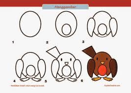 cara membuat poster untuk anak sd kerajinan anak sd paud cara langkah menggambar burung art