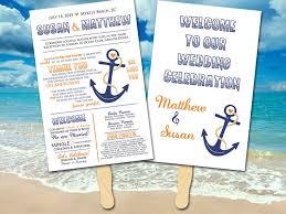 nautical wedding programs wedding program fan anchor wedding porgram nautical