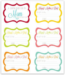 mothers day books free s day coupon book printable activity days