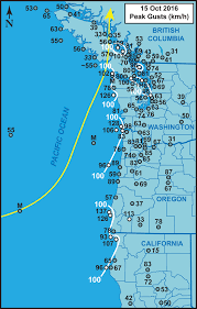 map of oregon lighthouses the ides of october windstorm of october 15 2016