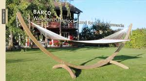 Hammock With Wooden Stand La Siesta Barco Wooden Hammock Stand For Family Hammocks Youtube