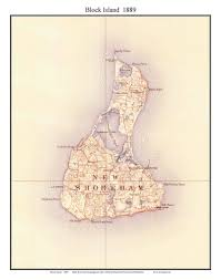 Block Island Map 1894 Topographic Map Of Block Island This Maps Shows Building