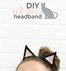 Halloween Costume Cat Ears Diy Cat Ears Minute Halloween Costume Idea Craft