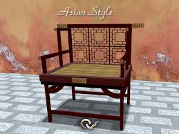 Chinese Armchair Second Life Marketplace Armchair Or Bench Asian Style Furniture