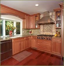 Kitchen Ideas With Cherry Cabinets Modern Cherry Wood Kitchen Cabinets Inspiration Decorating 47561