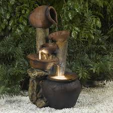 Outdoor Water Features With Lights by Jeco Inc Resin Fiberglass Pentole Pot Indoor Outdoor Fountain