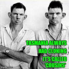 Tasmania Memes - cloning cousins in tasmania imgflip