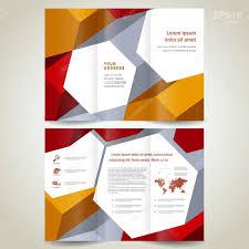 dimensional 3d background brochure design template tri fold