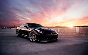 nissan skyline 2015 wallpaper nissan gt r black car at sunset wallpaper cars wallpaper better