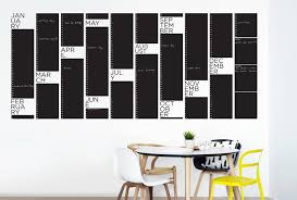 yearly planner chalkboard your decal shop nz designer wall art yearly planner chalkboard