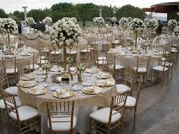 wedding tables and chairs another thing about the gold wedding theme is that the gold