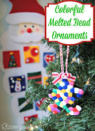 melted bead ornaments activity for
