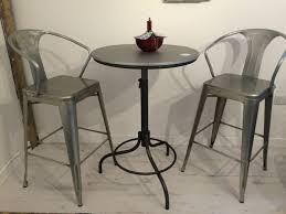 Zinc Top Bar Table Sale Zinc Top Bar Table And Tolix Stool Set
