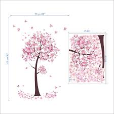 pink butterfly flower tree wall stickers decals girls women flower pink butterfly flowertree wall stickers decals girls women flower mural vinyl wallpaper home living room bedroom decor