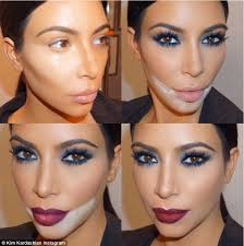 Makeup Schools In New Orleans Kim Kardashian Shares Dramatic Collage Of Her Contour Make Up