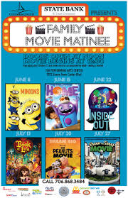 family movie matinee event calendar columbia county ga