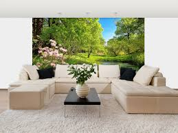 park in the spring wall mural dm136 themuralstore com park in the spring wall mural dm136
