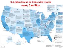 Map If Us Map Of U S States U0027 Economic Ties To Mexico Wilson Center