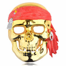 1pcs plastic masks cosplay pirates of the caribbean full face