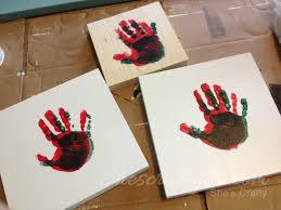 keepsake hand print sign she u0027s crafty