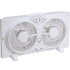 electrically reversible twin window fan amazon com genesis twin window fan with 9 inch blades high