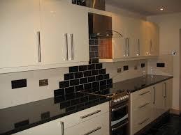 modern cream kitchens black and cream kitchen wall tiles