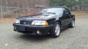 Black Mustang Gt Convertible For Sale 1991 Triple Black Ford Mustang Gt Convertible 5 Speed Leather For