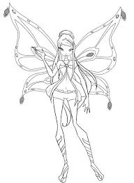 Winx Club Bloomix Colouring Pages Coloring Printable Image