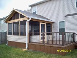 Backyard Porches And Decks by Screen Porch With Trex Deck And Aluminum Spindles Screened
