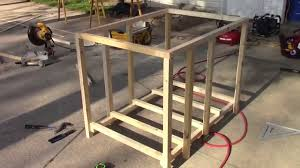 how to build a doghouse using lightweight framing part 1 youtube