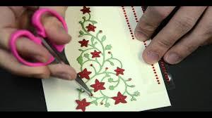 memory box flowering christmas tree card youtube